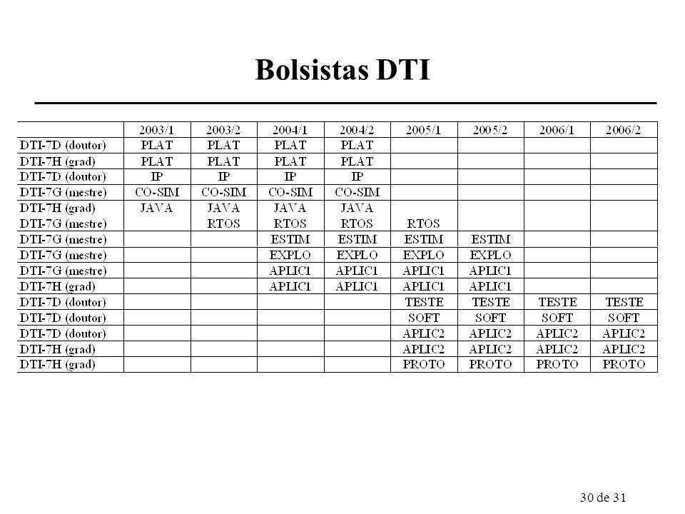 30 de 31 Bolsistas DTI