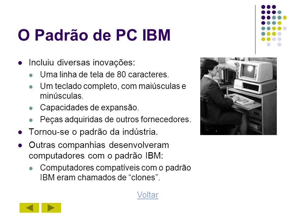 O Padrão Microsoft/Intel A Microsoft desenvolveu o sistema operacional para o PC IBM.