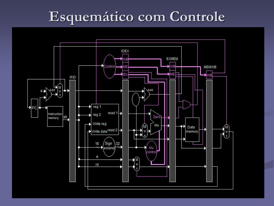 Esquemático com Controle