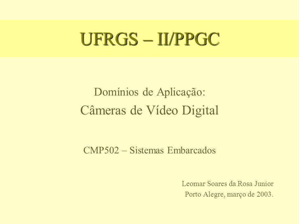 UFRGS – II/PPGC Domínios de Aplicação: Câmeras de Vídeo Digital CMP502 – Sistemas Embarcados Leomar Soares da Rosa Junior Porto Alegre, março de 2003.