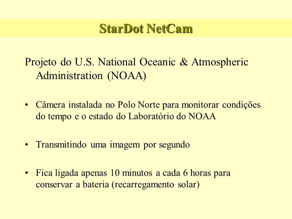 Projeto do U.S. National Oceanic & Atmospheric Administration (NOAA) Câmera instalada no Polo Norte para monitorar condições do tempo e o estado do La
