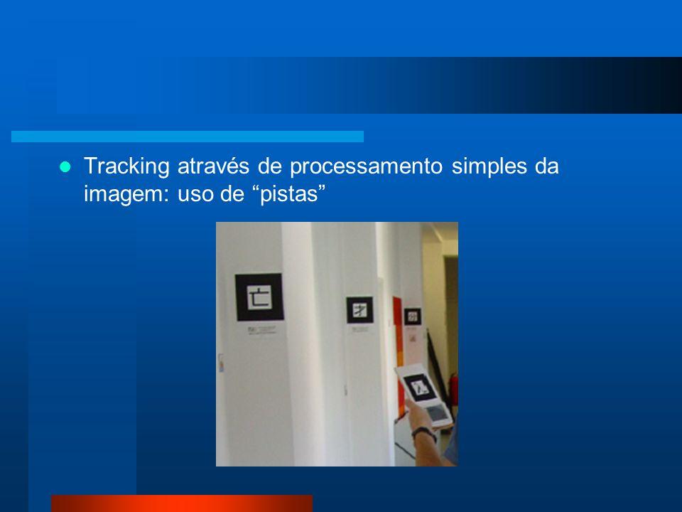 Tracking através de processamento simples da imagem: uso de pistas