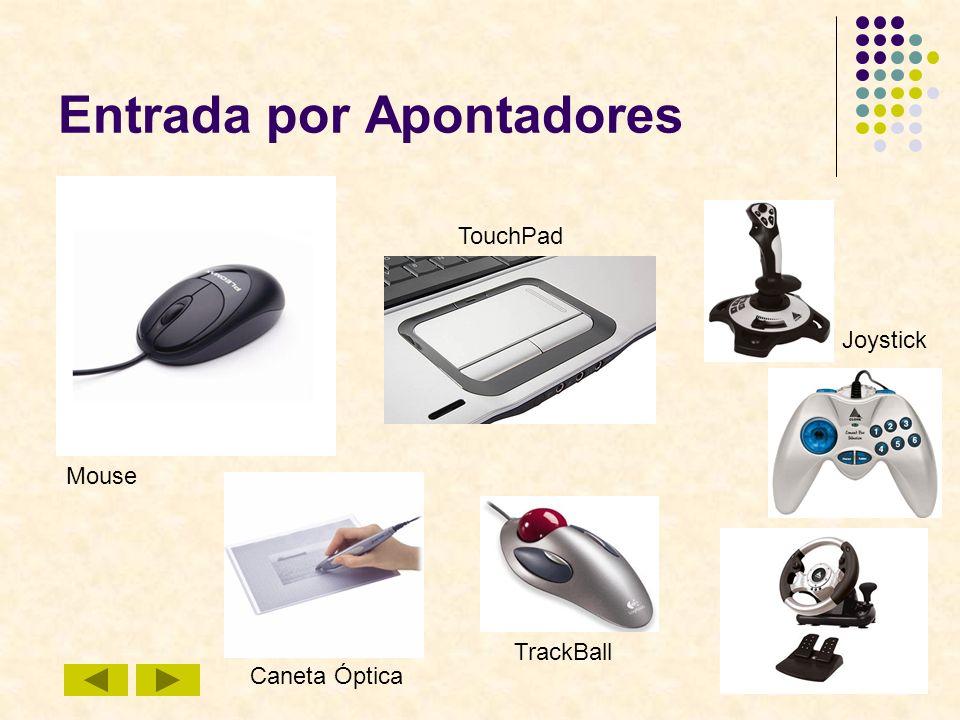 34 Entrada por Apontadores Mouse TouchPad Joystick Caneta Óptica TrackBall