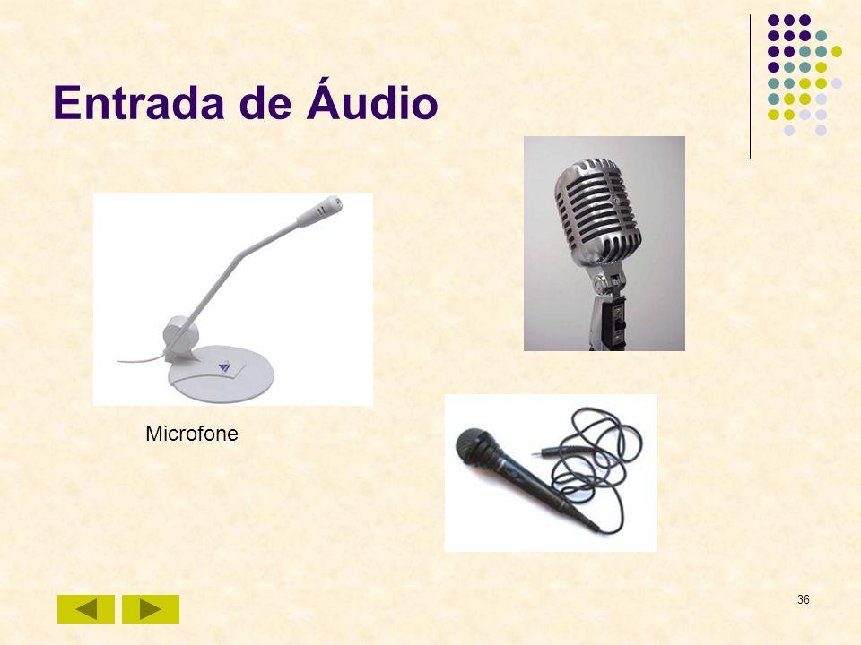 36 Entrada de Áudio Microfone