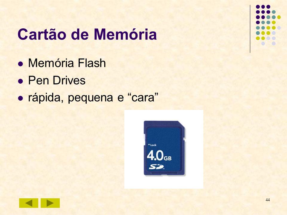 44 Cartão de Memória Memória Flash Pen Drives rápida, pequena e cara