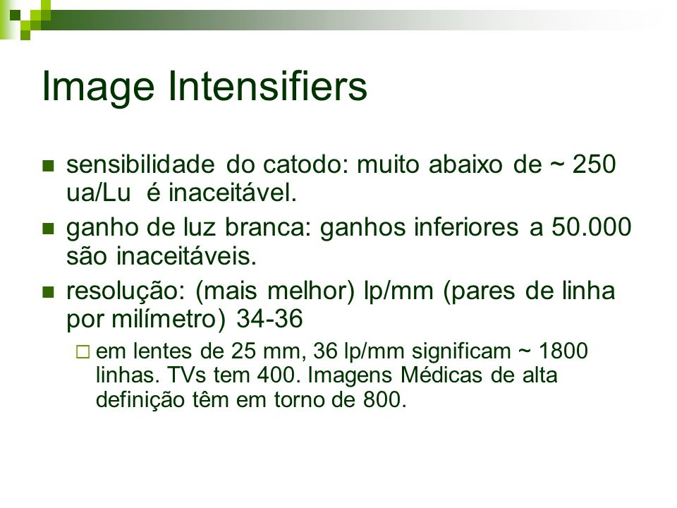 Image Intensifiers