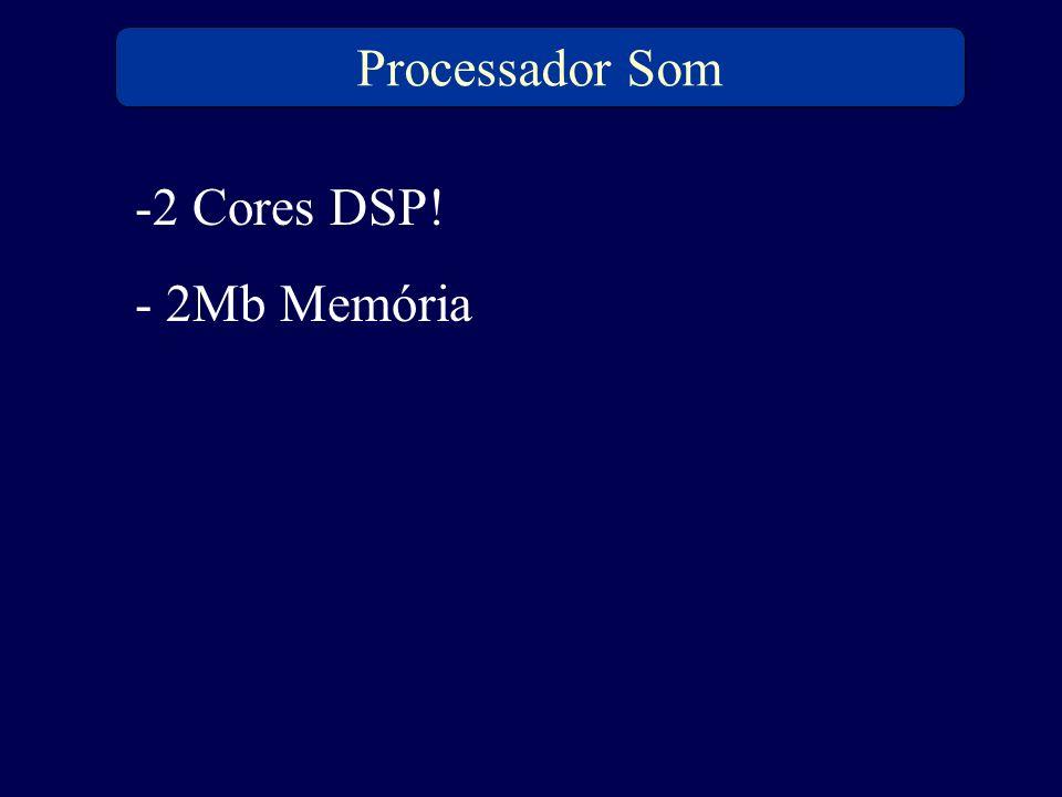 Processador Som -2 Cores DSP! - 2Mb Memória