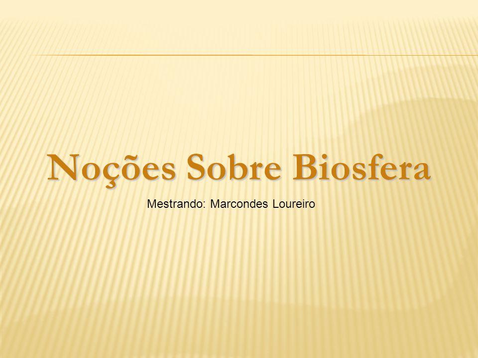 Noções Sobre Biosfera Mestrando: Marcondes Loureiro