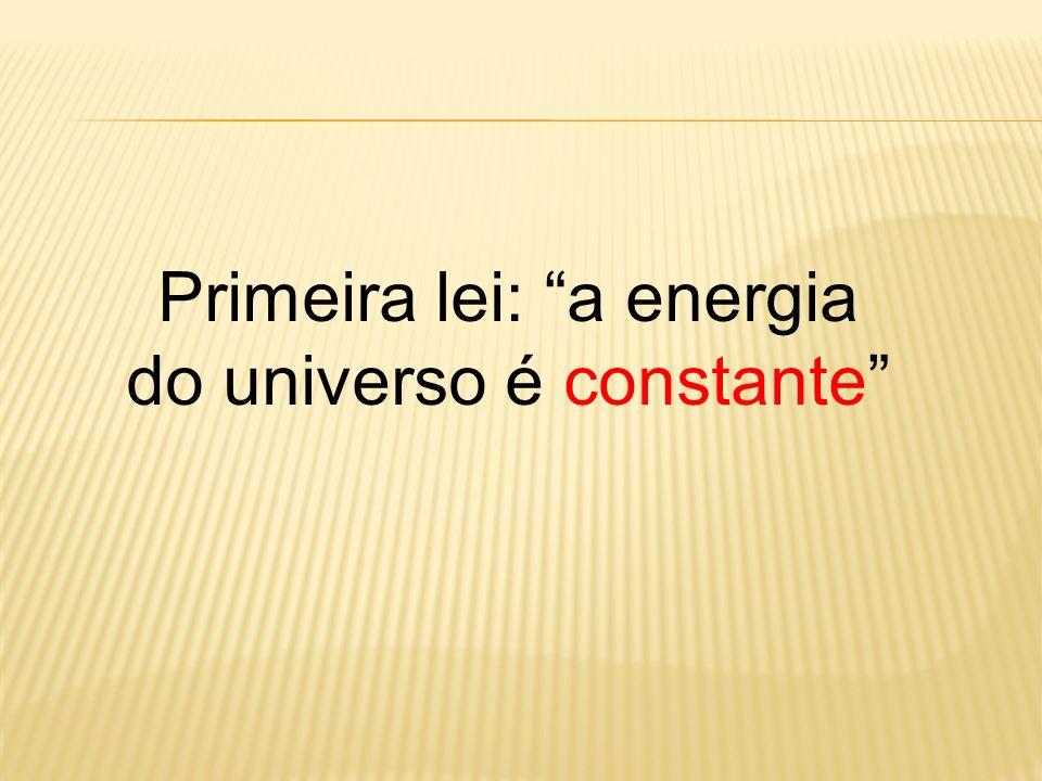 Primeira lei: a energia do universo é constante