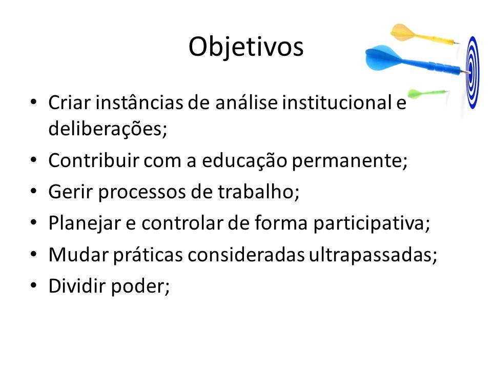 Objetivos Redefinir responsabilidades; Incentivar e fortalecer a participação dos servidores no cotidiano da gestão das unidades; Instituir incentivos aos servidores através de melhorias das Unidades em função da avaliação de desempenho;