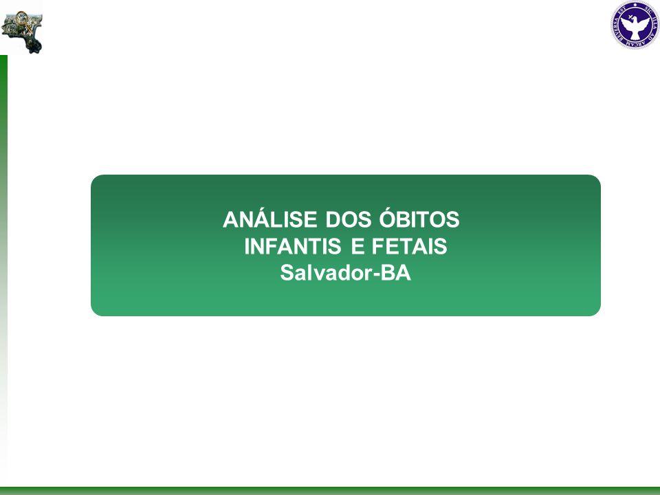 ANÁLISE DOS ÓBITOS INFANTIS E FETAIS Salvador-BA
