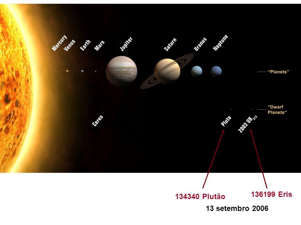 136199 Eris 134340 Plutão 13 setembro 2006