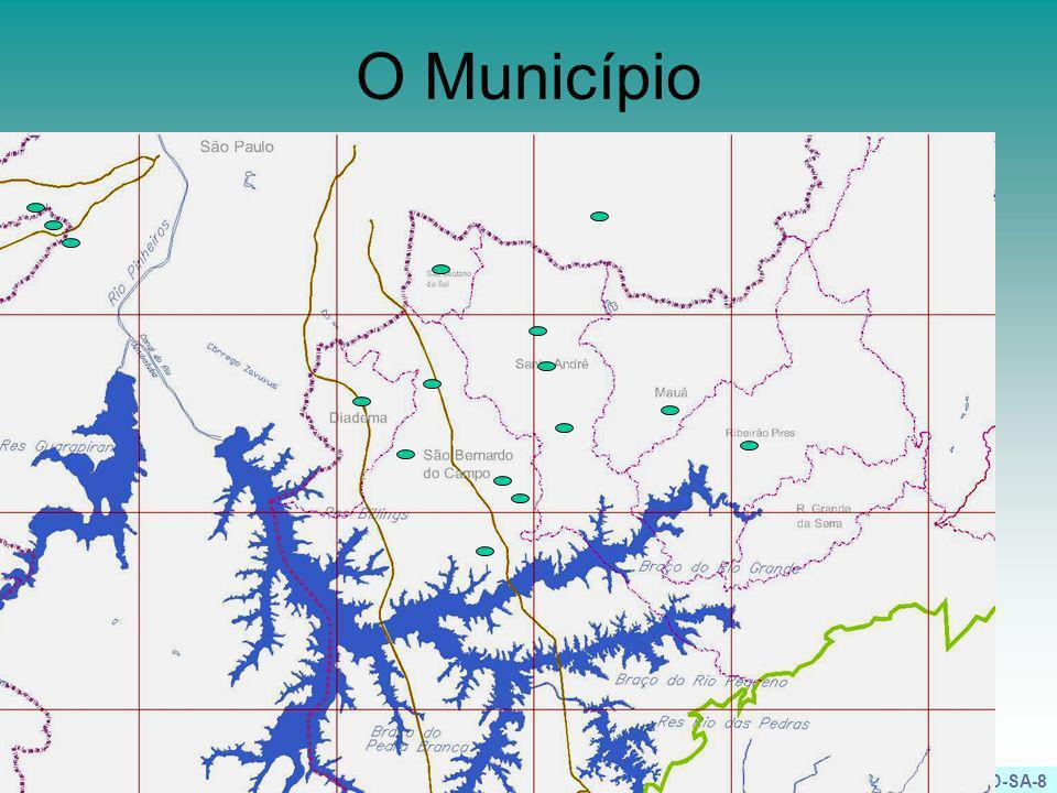 PHD-SA-9 Bacia e Reservatório Via Anchieta Ribeirão dos Meninos Reservatório Bom Pastor Córrego Araçatuba Descarregador Seção: Trapezoidal Altura: 2,60 m (no vertedor); 1,25m (média) Declividade: 0,0015m/m Tipo: Canal Trapezoidal gramado com a calha central em Gabião Extensão: ~ 800 m Volume: 19.200 m³
