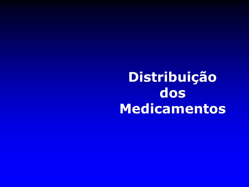 Distribuição dos Medicamentos