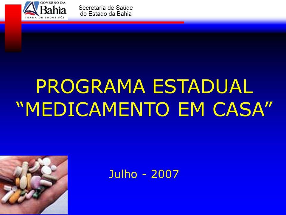 GOVERNO DA BAHIA Secretaria de Saúde do Estado da Bahia Organização e resolubilidade dos encaminhamentos para os serviços de média e alta complexidade, mediante necessidade clínica do diabético e hipertenso, obedecendo os critérios de atendimento destes serviços.