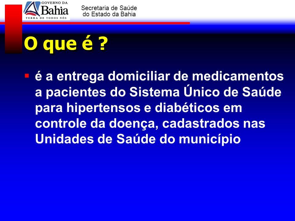 GOVERNO DA BAHIA Secretaria de Saúde do Estado da Bahia Prioridades para: Pacientes idosos 60 anos de idade de acordo com a Lei nº 10.741 de 1.º de outubro de 2003 Pacientes com limitações físicas:amputação de MMII, diminuição da acuidade visual ou cegueira.