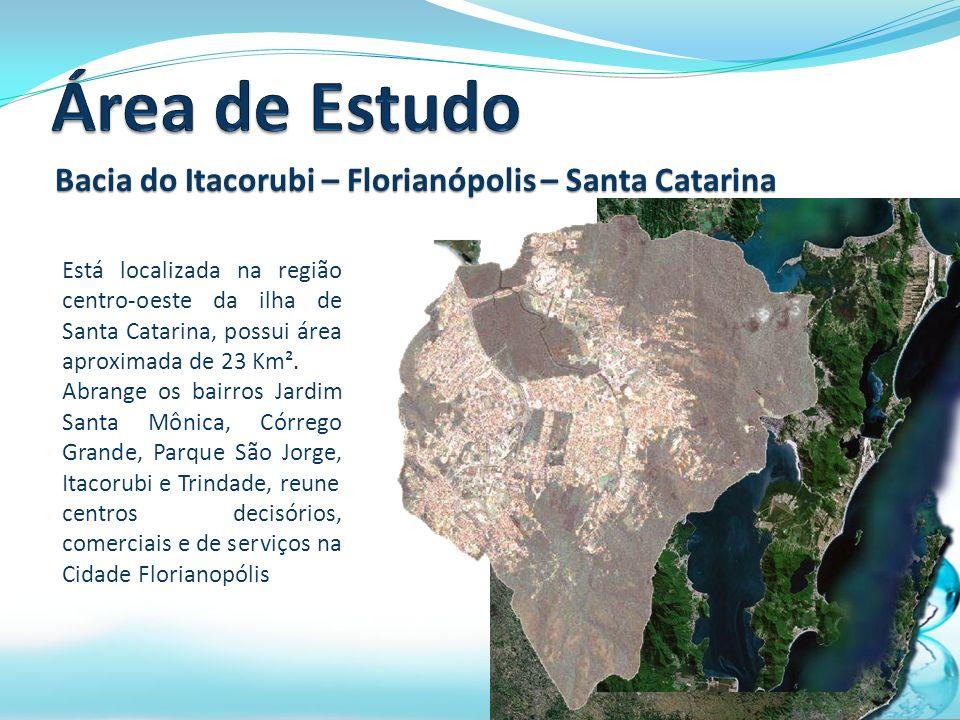 Está localizada na região centro-oeste da ilha de Santa Catarina, possui área aproximada de 23 Km².