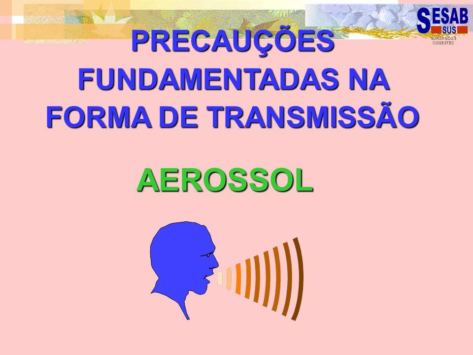 SURAPS/DAS COGESTEC AEROSSOL PRECAUÇÕES FUNDAMENTADAS NA FORMA DE TRANSMISSÃO