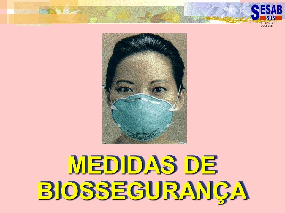 SURAPS/DAS COGESTEC MEDIDAS DE BIOSSEGURANÇA MEDIDAS DE BIOSSEGURANÇA