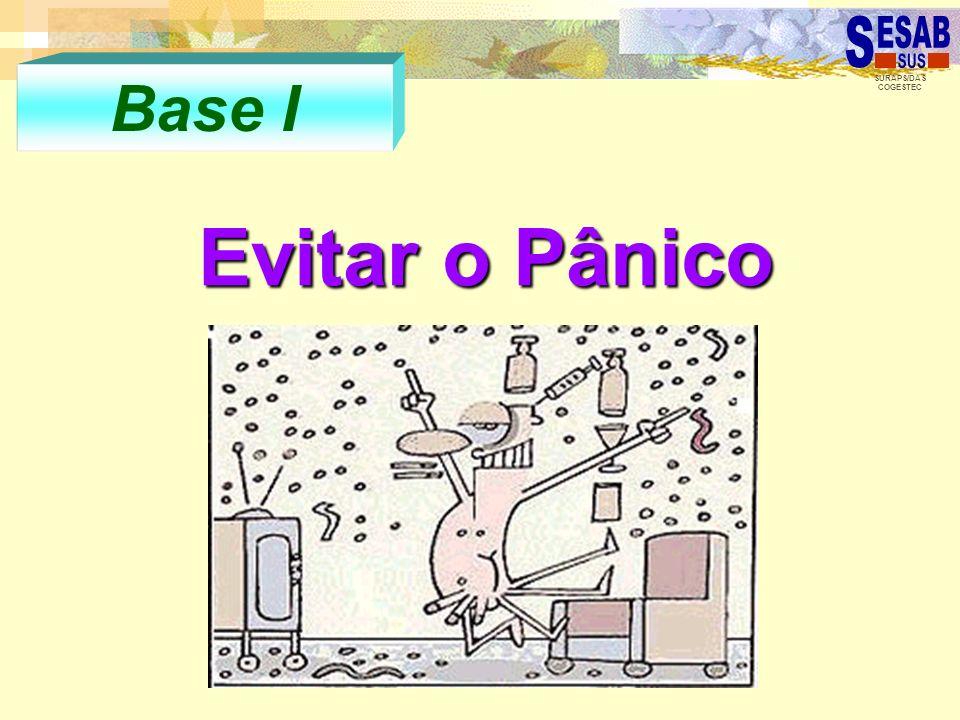 SURAPS/DAS COGESTEC Base I Evitar o Pânico