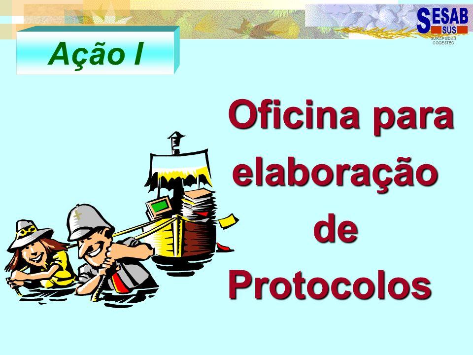 SURAPS/DAS COGESTEC Oficina para elaboração de Protocolos Oficina para elaboração de Protocolos Ação I