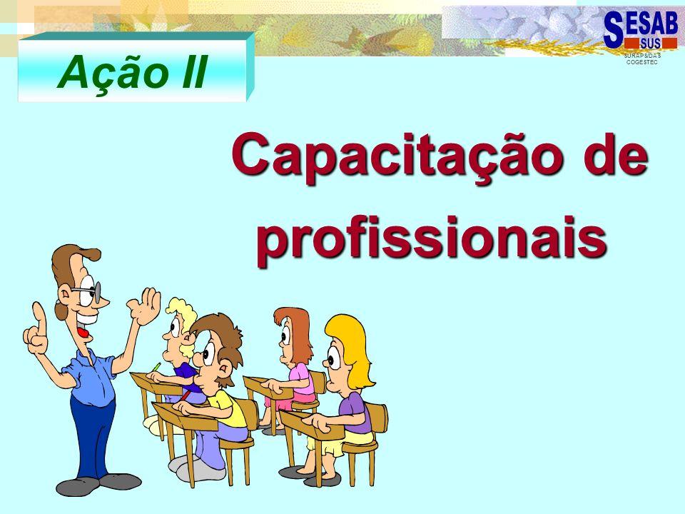 SURAPS/DAS COGESTEC Capacitação de profissionais Capacitação de profissionais Ação II