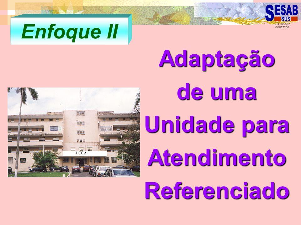 SURAPS/DAS COGESTEC Enfoque II Adaptação de uma Unidade para Atendimento Referenciado