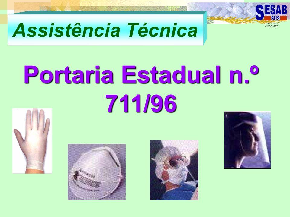 SURAPS/DAS COGESTEC Assistência Técnica Portaria Estadual n.º 711/96