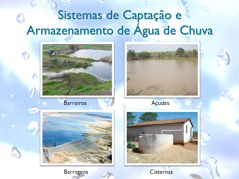 Sistemas de Captação e Armazenamento de Água de Chuva Barreiros Cisternas Açudes Barragens