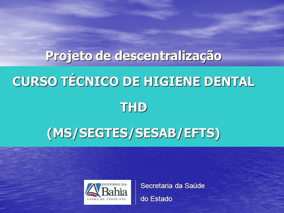 Desenvolver o Curso de Habilitação Profissional em Técnico de Higiene Dental para 300 trabalhadores em 15 municípios do Estado da Bahia.