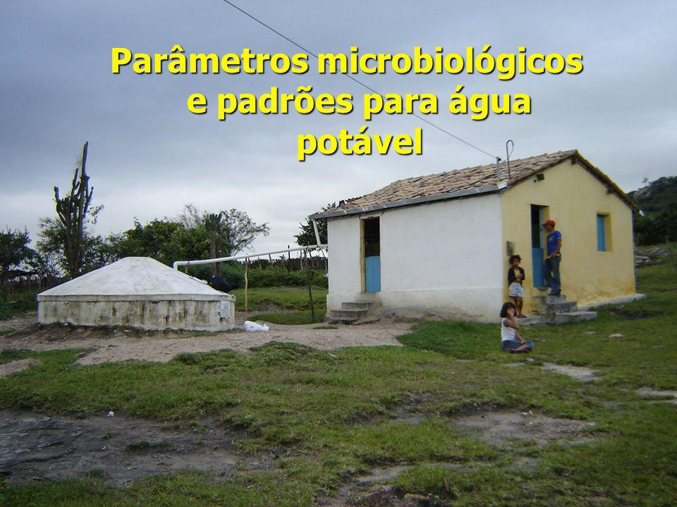Parâmetros microbiológicos e padrões para água potável