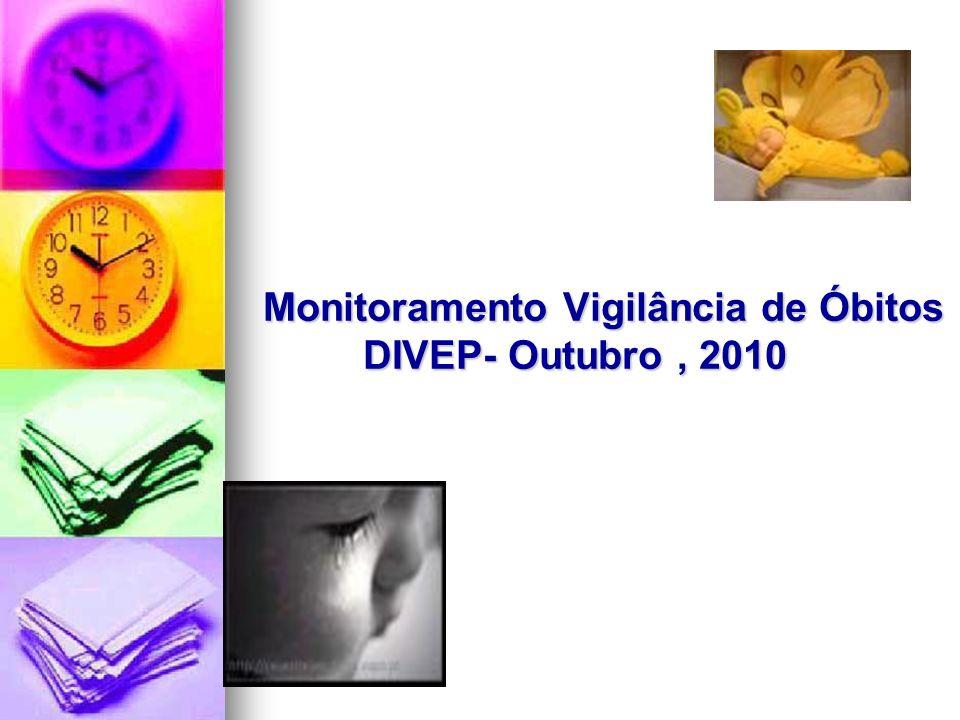 Monitoramento Vigilância de Óbitos DIVEP- Outubro, 2010