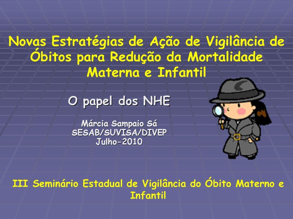 Epidemiologia em Serviços de Saúde A implantação dos NHE