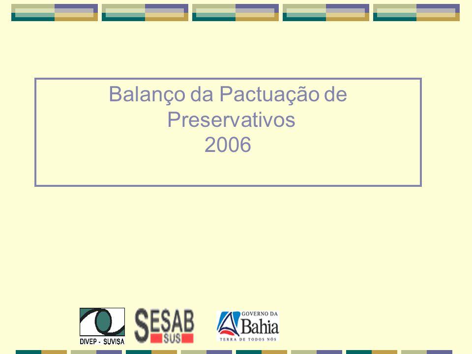 Balanço da Pactuação de Preservativos 2006