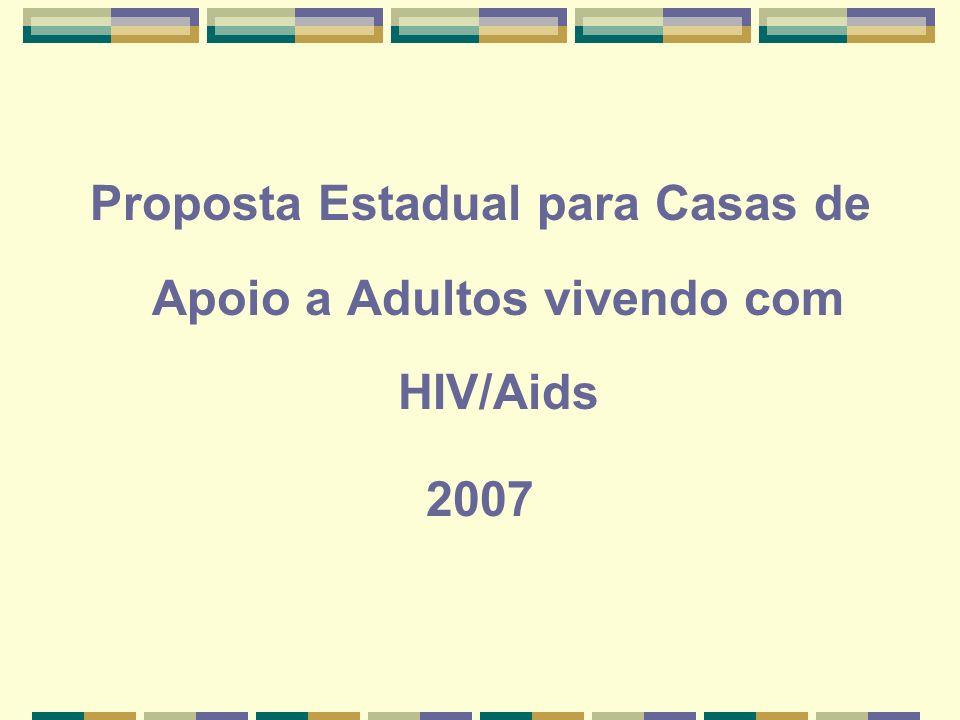 Proposta Estadual para Casas de Apoio a Adultos vivendo com HIV/Aids 2007