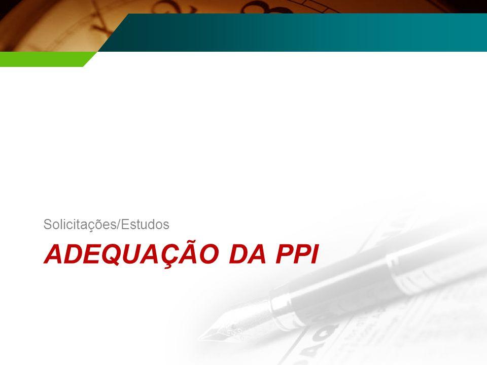 ADEQUAÇÃO DA PPI Solicitações/Estudos