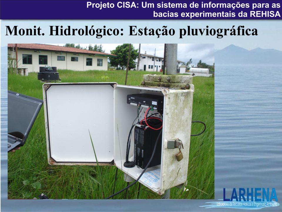 Monit. Hidrológico: Estação pluviográfica