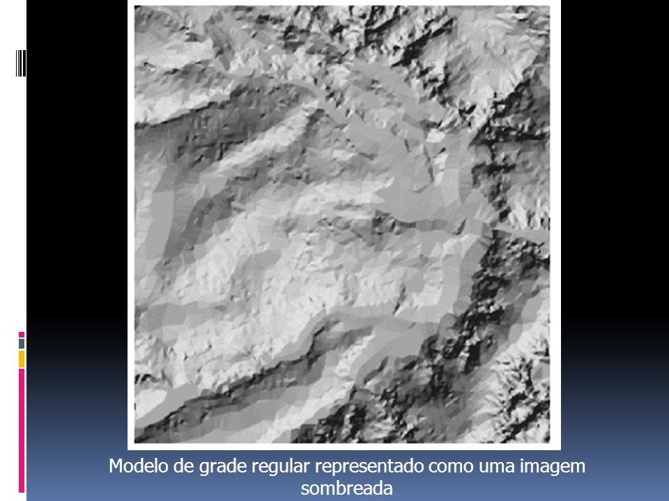 Modelo de grade regular representado como uma imagem sombreada