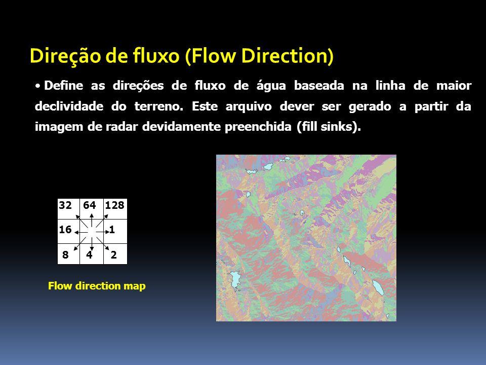 Define as direções de fluxo de água baseada na linha de maior declividade do terreno.