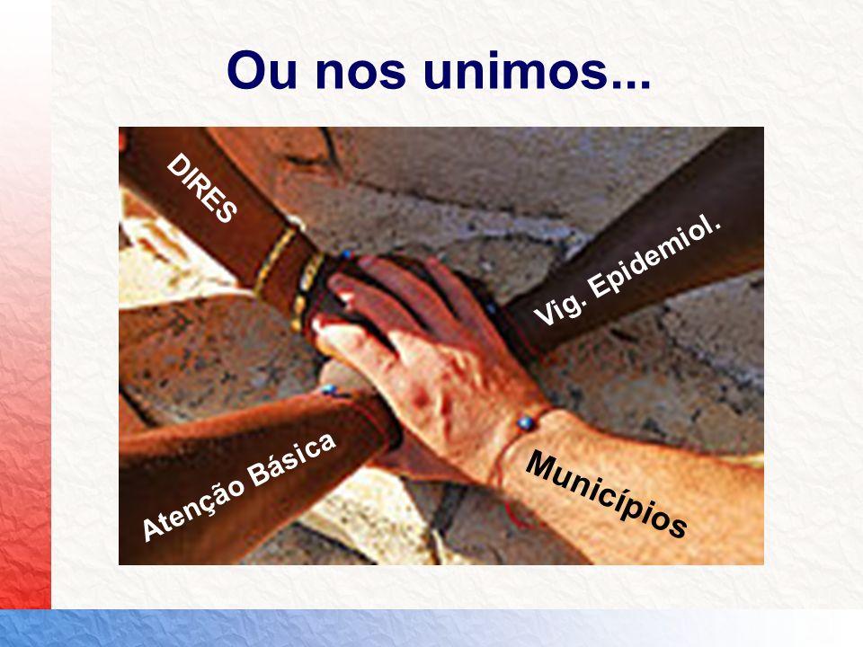 Atenção Básica Vig. Epidemiol. Municípios DIRES Ou nos unimos...