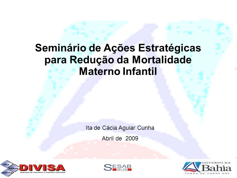 Resultados da Bahia 10 hospitais reavaliados 03 hospitais com melhoria das condições (meta 06 hospitais) META PARA 2009 20 Hospitais com melhoria de condições