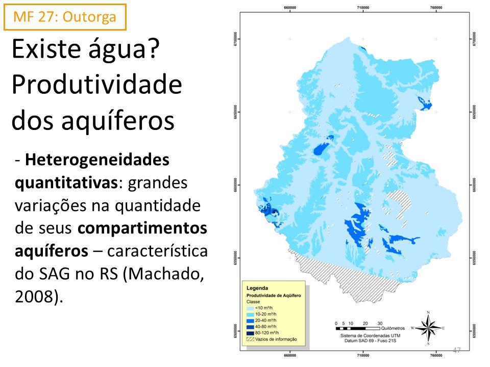 Existe água? Produtividade dos aquíferos - Heterogeneidades quantitativas: grandes variações na quantidade de seus compartimentos aquíferos – caracter