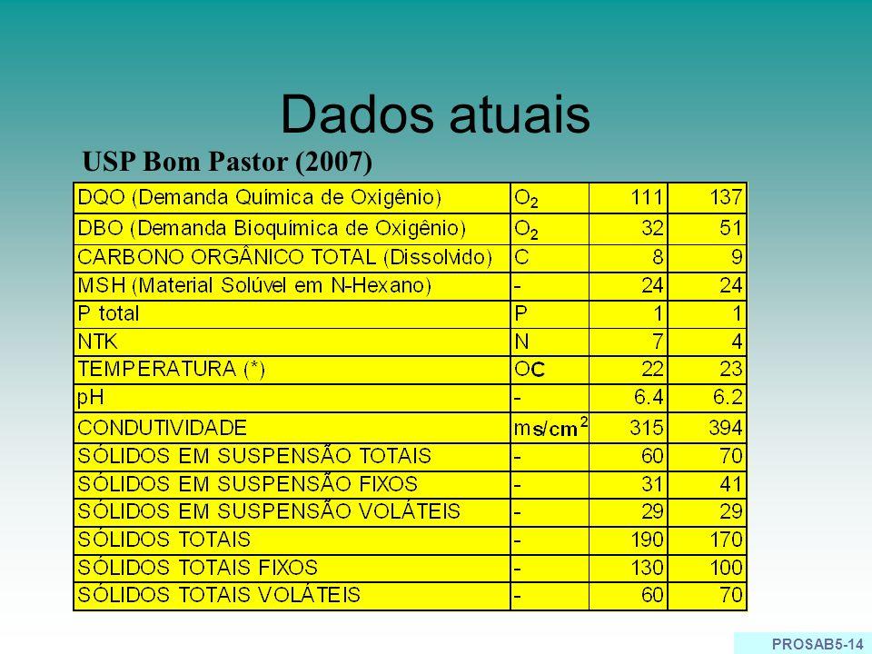 PROSAB5-14 Dados atuais USP Bom Pastor (2007)