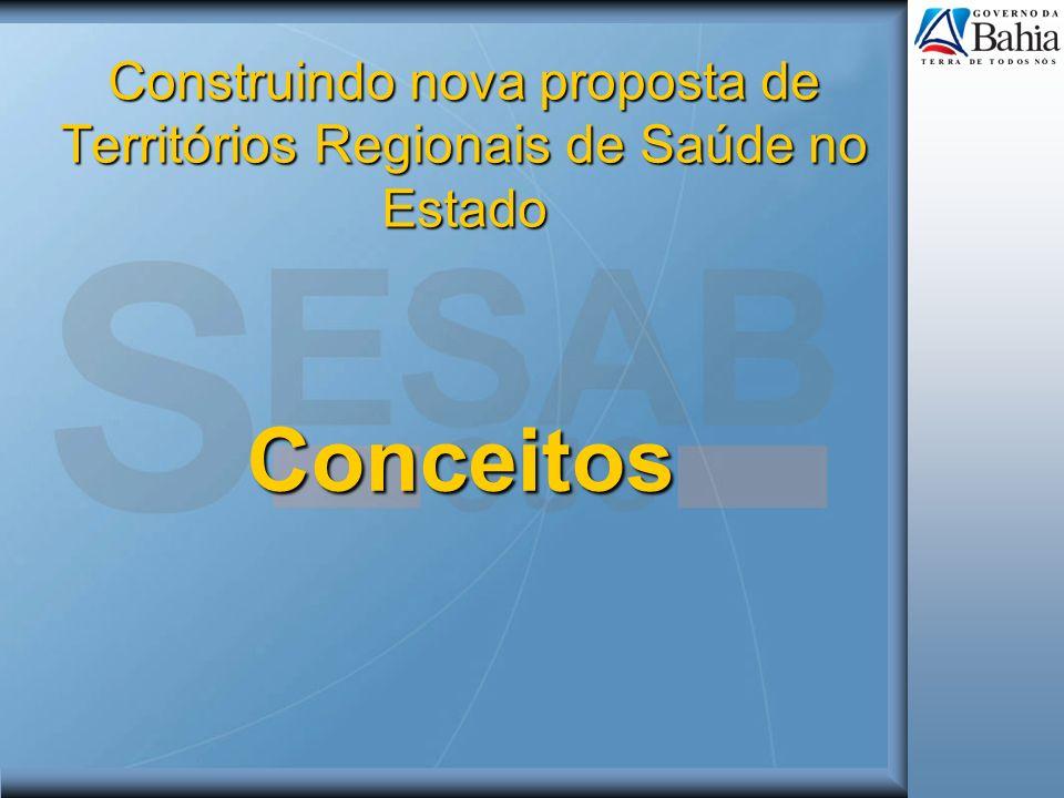 Construindo nova proposta de Territórios Regionais de Saúde no Estado Conceitos