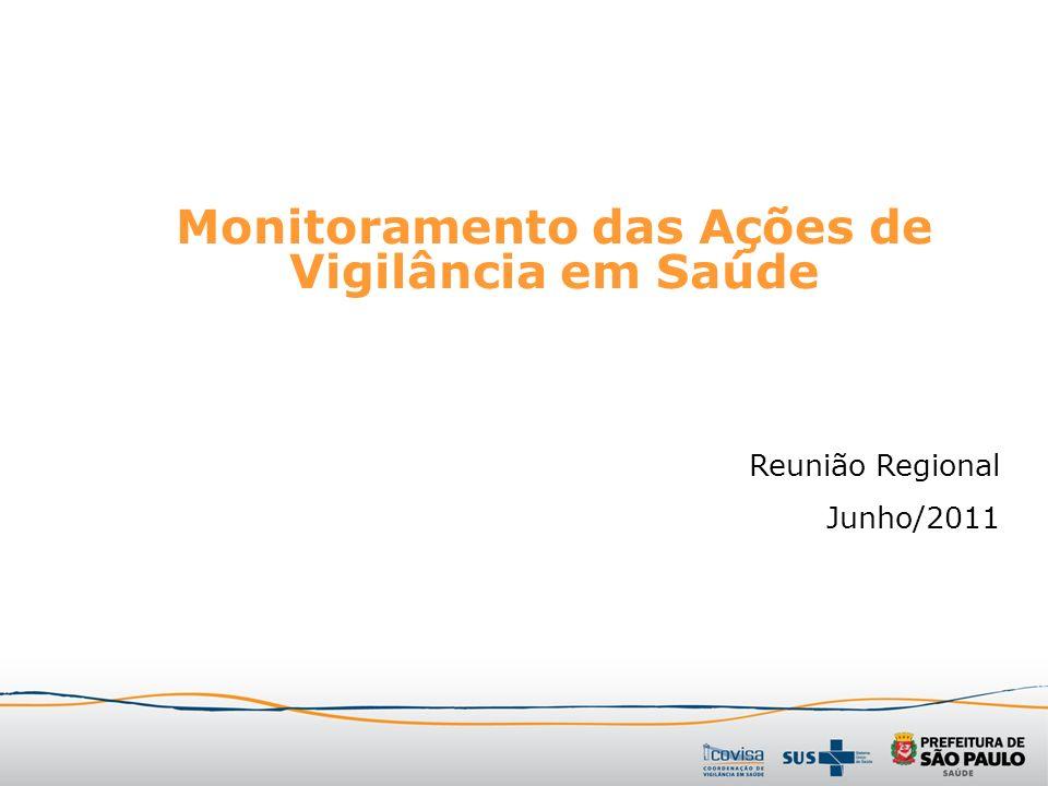 Monitoramento das Ações de Vigilância em Saúde Reunião Regional Junho/2011