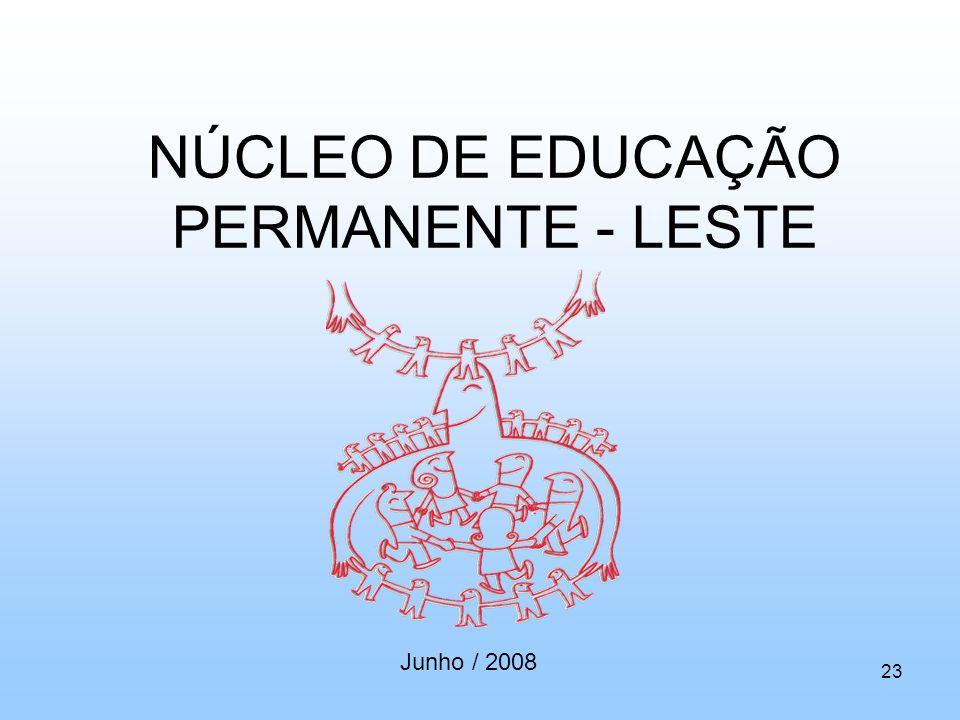 NÚCLEO DE EDUCAÇÃO PERMANENTE - LESTE Junho / 2008 23