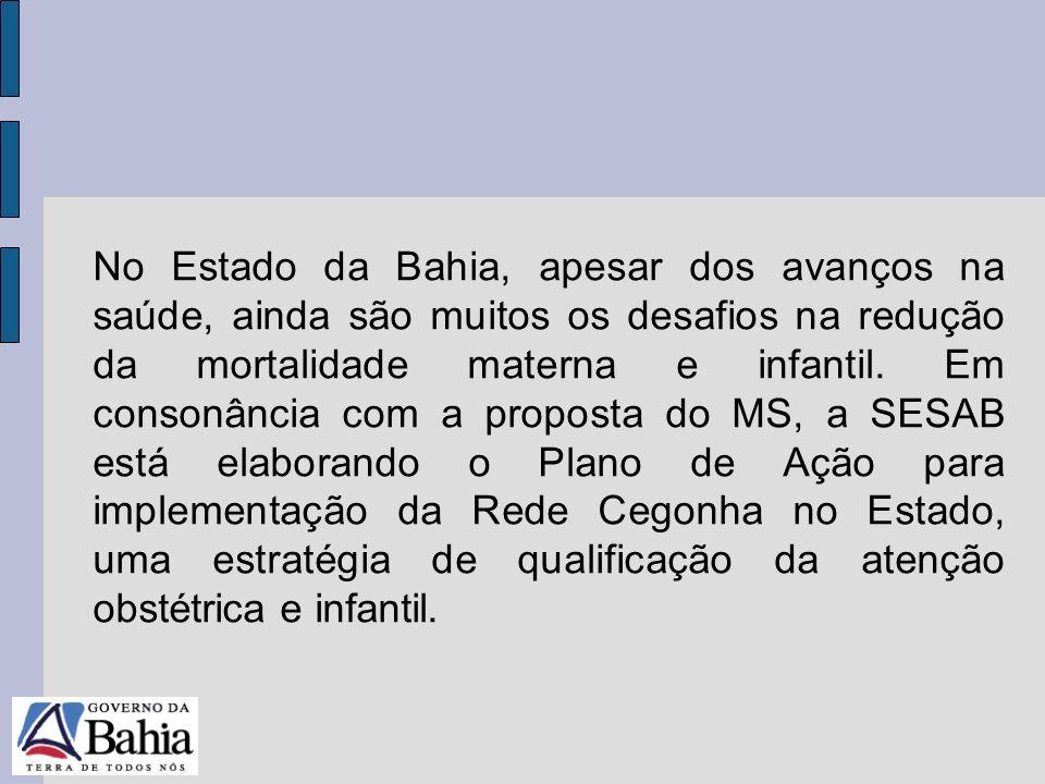 24/05/11 No Estado da Bahia, apesar dos avanços na saúde, ainda são muitos os desafios na redução da mortalidade materna e infantil. Em consonância co