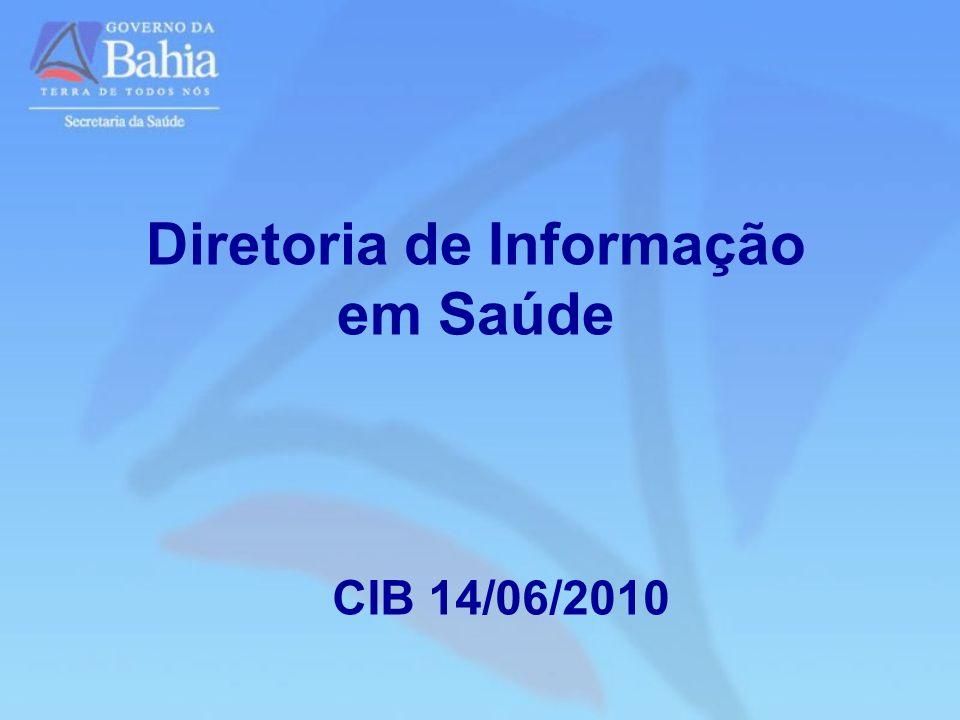 Diretoria de Informação em Saúde CIB 14/06/2010