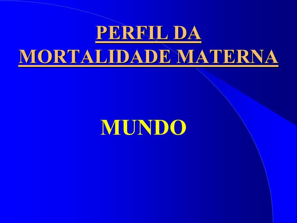 PERFIL DA MORTALIDADE MATERNA MUNDO