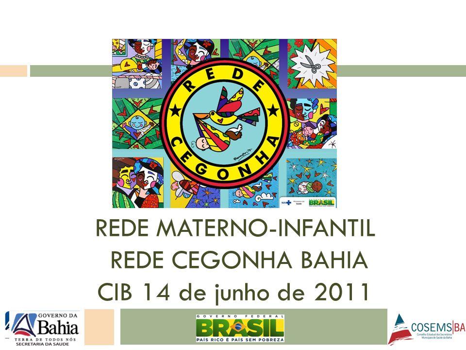 REDE MATERNO-INFANTIL REDE CEGONHA BAHIA CIB 14 de junho de 2011